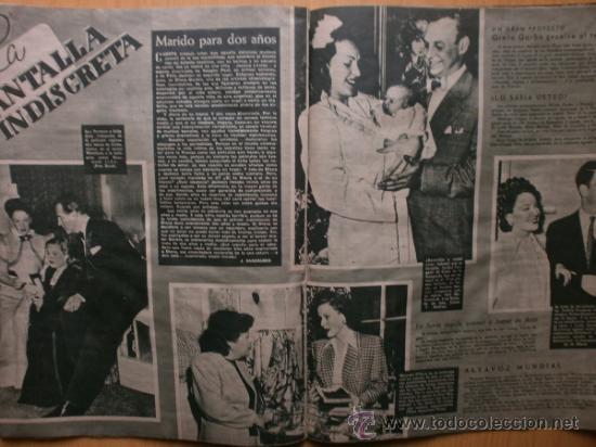 Cine: PRIMER PLANO Nº394.1948.JANIS PAIGE,M.FELIX,J.REYNOLDS,V.FRANCEN,C.MONTES,M.DIETRICH,A.SMITH,S.GRAY. - Foto 8 - 36767466