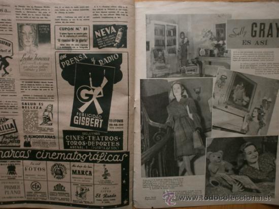 Cine: PRIMER PLANO Nº394.1948.JANIS PAIGE,M.FELIX,J.REYNOLDS,V.FRANCEN,C.MONTES,M.DIETRICH,A.SMITH,S.GRAY. - Foto 10 - 36767466