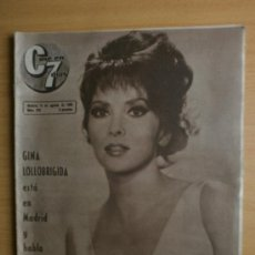 Cine: CINE EN 7 DIAS Nº279.1966.GINA LOLLOBRIGIDA,CHAPLIN,A.GADE,Mª E.GOROSTIZA,J.RUBIO,L.KAZAN,J.MARAIS.. Lote 36778295