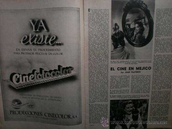 Cine: CAMARA Nº99.1947.IMOGENE CARPENTER,R.MELLER,K.HEPBURN,E.SOTO,A.MARISCAL,S.TEMPLE,R.GIL,A.DE CORDOBA. - Foto 4 - 36802682