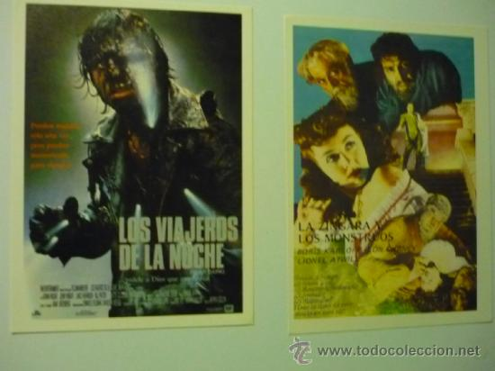 LOTE PROGRAMAS MODERNOS TERROR- LOS VIAJEROS DE LA NOCHE.-LA ZINGARA Y LOS MONSTRUOS (Cine - Reproducciones de carteles, folletos...)