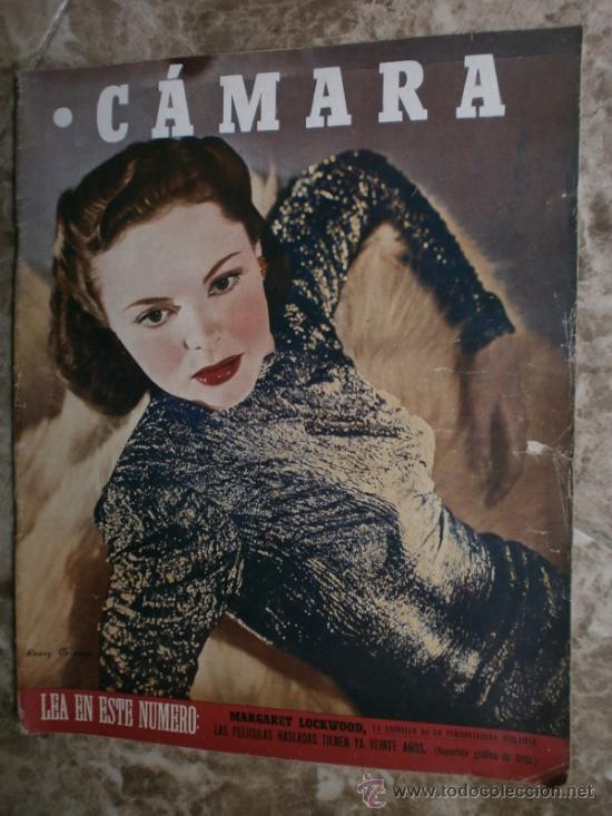 CAMARA Nº89.1946.NANCY COLEMAN,I.BERGMAN,P.BALLESTEROS,M.LOCKWOOD,J.HODIAK,B.TYLER,W.BEERY,N.MISTRAL (Cine - Revistas - Cámara)