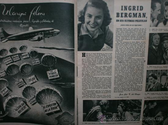 Cine: CAMARA Nº89.1946.NANCY COLEMAN,I.BERGMAN,P.BALLESTEROS,M.LOCKWOOD,J.HODIAK,B.TYLER,W.BEERY,N.MISTRAL - Foto 5 - 36953389