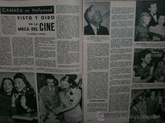 Cine: CAMARA Nº89.1946.NANCY COLEMAN,I.BERGMAN,P.BALLESTEROS,M.LOCKWOOD,J.HODIAK,B.TYLER,W.BEERY,N.MISTRAL - Foto 6 - 36953389