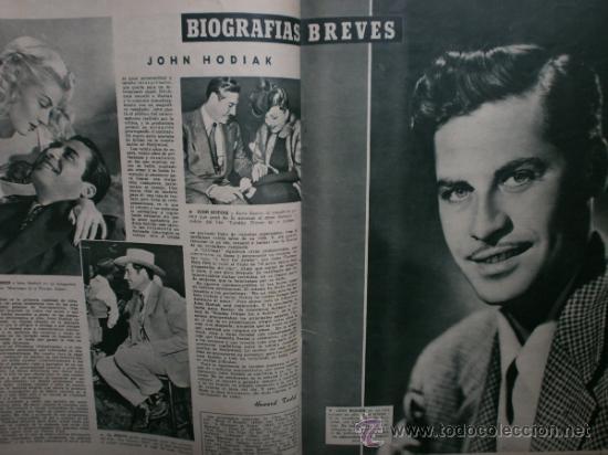 Cine: CAMARA Nº89.1946.NANCY COLEMAN,I.BERGMAN,P.BALLESTEROS,M.LOCKWOOD,J.HODIAK,B.TYLER,W.BEERY,N.MISTRAL - Foto 11 - 36953389