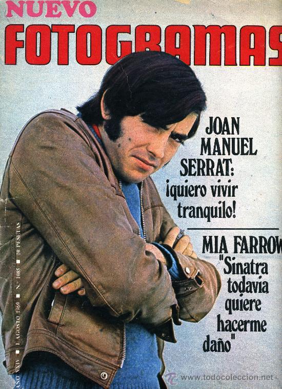 JOAN MANUEL SERRAT, REVISTA FOTOGRAMAS DE 1969. (Cine - Revistas - Fotogramas)