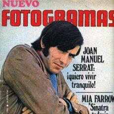 Cine: JOAN MANUEL SERRAT, REVISTA FOTOGRAMAS DE 1969.. Lote 36968642