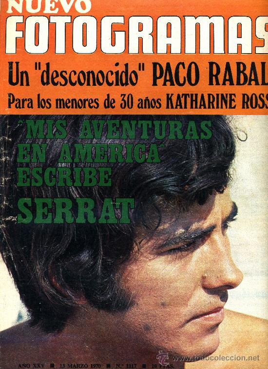 JOAN MANUEL SERRAT, REVISTA FOTOGRAMAS DE 1970. (Cine - Revistas - Fotogramas)