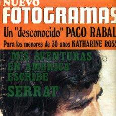 Cine: JOAN MANUEL SERRAT, REVISTA FOTOGRAMAS DE 1970.. Lote 36968751