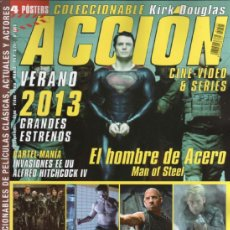 Cine: ACCION N. 1305 MAYO 2013 - EN PORTADA: EL HOMBRE DE ACERO (NUEVA). Lote 117560992