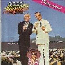 Cine: REVISTA CLAQUETA Nº JULIO Y AGOSTO 1989. Lote 37058906