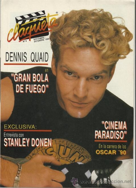 REVISTA CLAQUETA Nº 8 NOVIEMBRE Y DICIEMBRE 1989 (Cine - Revistas - Claqueta)