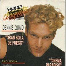Cine: REVISTA CLAQUETA Nº 8 NOVIEMBRE Y DICIEMBRE 1989. Lote 37058930
