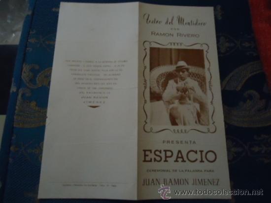 TEATRO DEL MENTIDERO CADIZ ESPACIO CEREMONIAL DE LA PALABRA JUAN RAMON JIMENEZ -TEATRO FALLA (Cine - Reproducciones de carteles, folletos...)