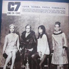 Cine: REVISTA URSULA ANDRESS MARISA MELL VIRNA LISI. Lote 37299772