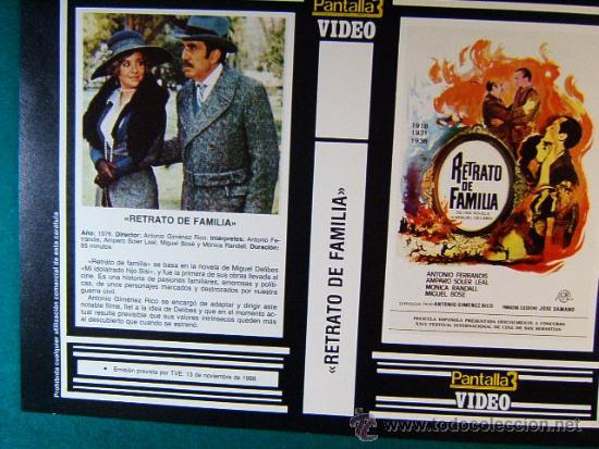 RETRATO DE FAMILIA - ANTONIO GIMENEZ RICO - ANTONIO FERRANDIS - AMPARO SOLER - 1988 - LEER MAS ... (Cine - Reproducciones de carteles, folletos...)