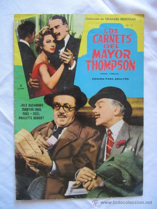 REVISTA DE LA PELICULA LOS CARNETS DEL MAYOR THOMPSON - VERSION COMPLETA - PELICULAS FAMOSAS (Cine - Revistas - Colección grandes películas)