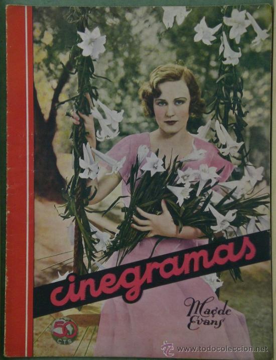 RX12 MADGE EVANS REVISTA ESPAÑOLA CINEGRAMAS Nº 50 AGOSTO 1935 (Cine - Revistas - Cinegramas)