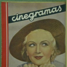 Cine: AAV35 MONA GOYA REVISTA ESPAÑOLA CINEGRAMAS Nº 64 DICIEMBRE 1935. Lote 37605622
