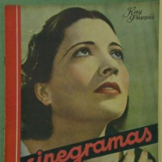 Cine: RX25 KAY FRANCIS REVISTA ESPAÑOLA CINEGRAMAS Nº 32 ABRIL 1935. Lote 37605846