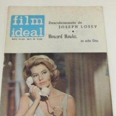 Cine: REVISTA FILM IDEAL Nº 145 - AÑO 1964 - JOSEPH LOSEY - HOWARD HAWKS - CYD CHARISSE. Lote 178152447