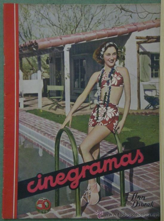 RX55 ANN DVORAK REVISTA ESPAÑOLA CINEGRAMAS Nº 46 JULIO1935 (Cine - Revistas - Cinegramas)