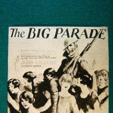 Cine: THE BIG PARADE - EL GRAN DESFILE - KING VIDOR - ESTRENADA EN 1925 - MAS INFORMACION .... Lote 254270440