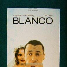 Cinéma: BLANCO - TRES COLORES - KRZYSZTOF KIESLOWSKI - ZBIGNIEW ZAMACHOWSKY -JULIE DELPY -MAS INFORMACION.... Lote 37670257
