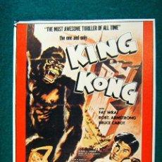 Cine: KING KONG - MERIAN C. COOPER - FRAY WRAY - BRUCE CABOT - ESTRENO EN 1933 - SIGUE ... . Lote 37748986