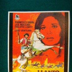 Cinema: LLANTO POR UN BANDIDO - CARLOS SAURA -FRANCISCO RABAL-LEA MASSARI-LINO VENTURA-DIBUJO JANO-SIGUE .... Lote 83543634