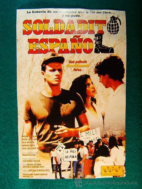 SOLDADITO ESPAÑOL - ANTONIO GIMENEZ RICO - MIGUEL A. RELLAN - MARIA LUISA SAN JOSE - SIGUE ... (Cine - Reproducciones de carteles, folletos...)
