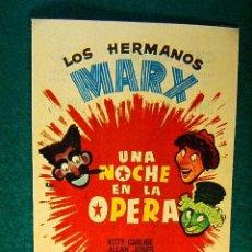 Cine: UNA NOCHE EN LA OPERA - SAM WOOD - LOS HERMANOS MARX - KITTY CARLISE - ALLAN JONES - SIGUE ... . Lote 101053047