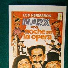 Cine: UNA NOCHE EN LA OPERA - SAM WOOD - LOS HERMANOS MARX - KITTY CARLISE - SIGUE ... . Lote 101053070