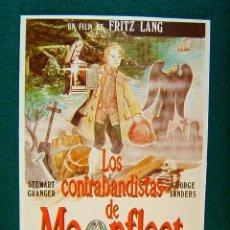 Cine: LOS CONTRABANDISTAS DE MOONFLEET - FRITZ LANG - STEWART GRANGER - GEORGE SANDERS - MAS ... . Lote 37849407