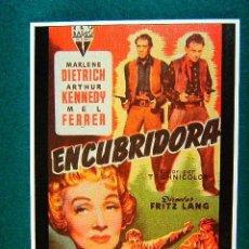 Cine: ENCUBRIDORA - FRITZ LANG - MARLENE DIETRICH - ARTHUR KENNEDY - MEL FERRER - MAS ... . Lote 37852744