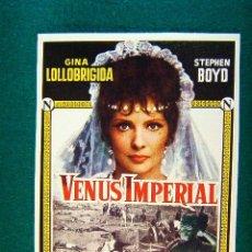 Cine: VENUS IMPERIAL - JEAN DELANNOY - GINA LOLLOBRIGIDA - STEPHEN BOYD - RAYMOND PELLEGRIN - MAS .... Lote 229214015