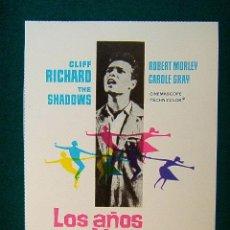 Cine: LOS AÑOS JOVENES - THE YOUNG ONES - SIDNEY J. FURIE - CLIFF RICHARD - THE SHADOWS - ESTE .... Lote 210075360