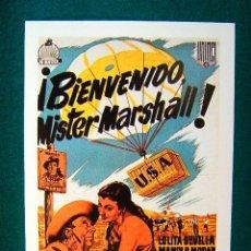 Cinéma: BIENVENIDO MISTER MR. MARSHALL ! - LUIS GARCIA BERLANGA - JOSE ISBERT - MANUEL MORAN - ESTE .... Lote 37932264