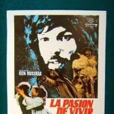 Cine: LA PASION DE VIVIR - KEN RUSSELL - RICHARD CHAMBERLAIN . GLENDA JACKSON - MAX ADRIAN - ESTE .... Lote 155794130