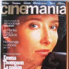 Cine: REVISTA CINEMANIA Nª 1 - CON AUTÓGRAFO ORIGINAL DE EMMA THOMPSON. Lote 37991347