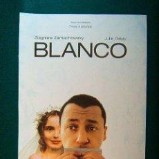Cinéma: BLANCO - KRZYSZTOF KIESLOWSKI - ZBIGNIEW ZAMACHOWSKY - JULIE DELPY - GUIA .... Lote 38090558