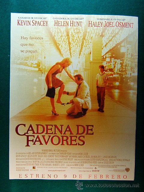CADENA DE FAVORES - MIMI LEDER - KEVIN SPACEY - HELEN HURT - JON BON JOVI - ANGIE DICKINSON -GUIA... (Cine - Reproducciones de carteles, folletos...)
