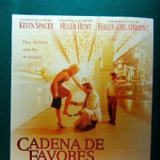 Cinema: CADENA DE FAVORES - MIMI LEDER - KEVIN SPACEY - HELEN HURT - JON BON JOVI - ANGIE DICKINSON -GUIA.... Lote 38103672