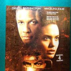 Cine: EL COLECCIONISTA DE HUESOS - PHILLIP NOYCE - DENZEL WASHINGTON - ANGELINA JOLIE - GUIA .... Lote 114999227