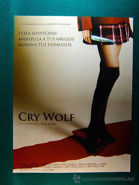 CRY WOLF - JEFF WADLOW - JULIAN MORRIS - LYNDY BOOTH - JARED PADALECKI - JON BON JOVI - GUIA ... (Cine - Reproducciones de carteles, folletos...)