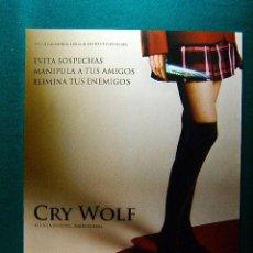 Cinema: CRY WOLF - JEFF WADLOW - JULIAN MORRIS - LYNDY BOOTH - JARED PADALECKI - JON BON JOVI - GUIA .... Lote 38121311