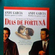 Cine: DIAS DE FORTUNA - ANDREW DAVIS - ANDY GARCIA - ALAN ARKIN - RACHEL TICOTIN - GUIA .... Lote 222347837
