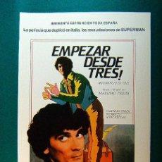 Cinema: EMPEZAR DESDE TRES ! - RICOMINCIO DA TRE - MASSIMO TROISI - FIORENZA MARCHEGIANI - GUIA .... Lote 38161249