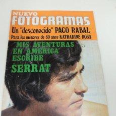 Cine: REVISTA FOTOGRAMAS Nº 1117 MARZO 1970 - JOAN MANUEL SERRAT - PACO RABAL - KATHARINE ROSS - CADAQUES. Lote 38173549