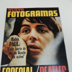 Cine: REVISTA FOTOGRAMAS Nº 1124 MAYO 1970 - ESPECIAL THE BEATLES. Lote 38174070